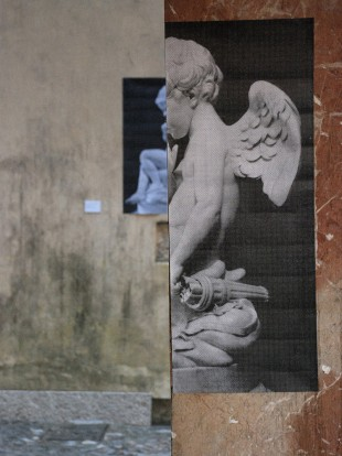 "Photo installation ""Secret Doing"" by Nia Pushkarova at ""Translocal Meeting"", Can Gilabert, Mallorca 2013"